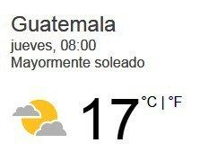 Clima Nacional Enero 12, Jueves
