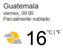 Clima Nacional Enero 13, Viernes