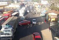 Importadores de vehículos bloquean la Interamericana