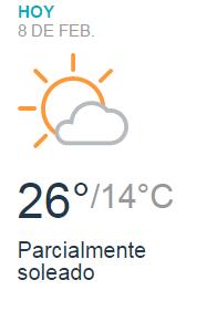Clima Nacional Febrero 08, Miércoles