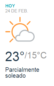 Clima Nacional Febrero 24, Viernes