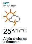 Clima Nacional mayo 23, martes