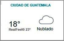 Clima Nacional septiembre 25, Lunes