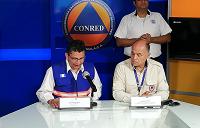 Conferencia de prensa de Conred por actividad en volcán de Fuego