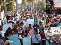 Manifestaciones de CODECA en distintos puntos