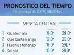 Clima Nacional mayo 13, lunes