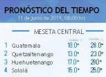 Clima Nacional junio 11, martes