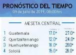 Clima Nacional julio 09, martes