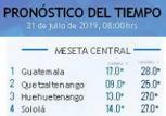 Clima Nacional julio 31, miércoles